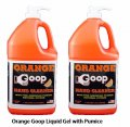 Orange goop with pumice